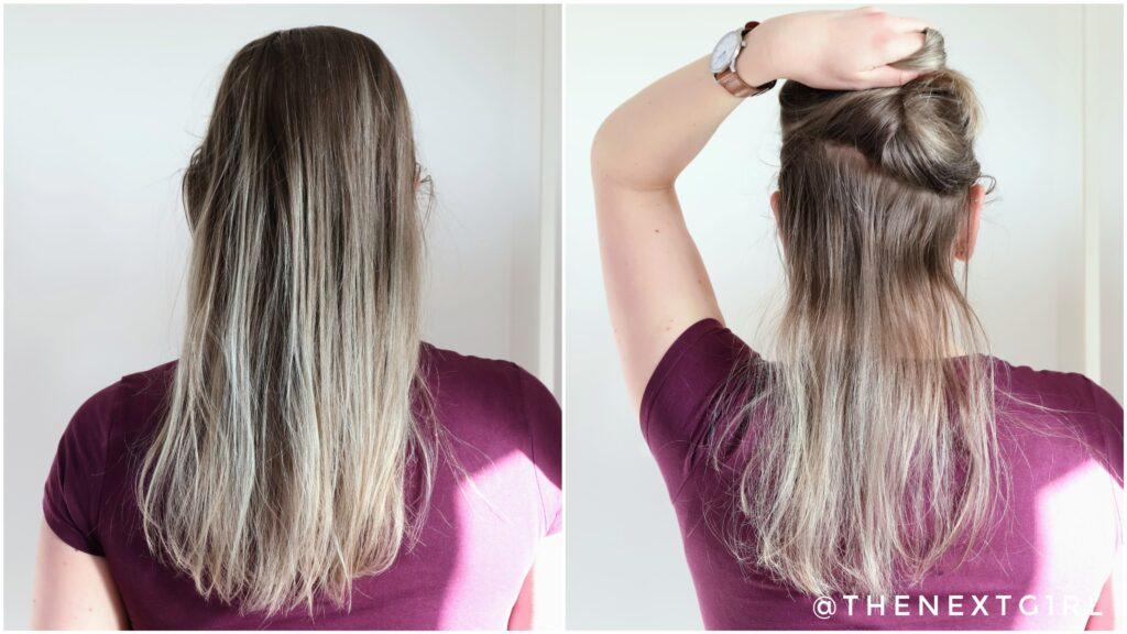 Haarkleur voor het aanbrengen van de lila haarverf