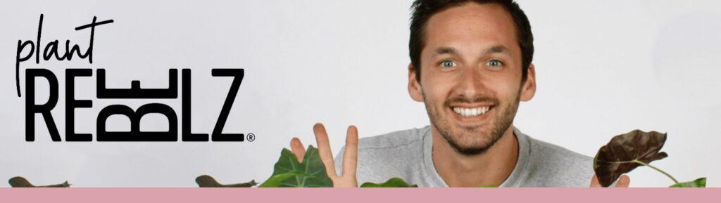 Plant Rebelz logo website banner