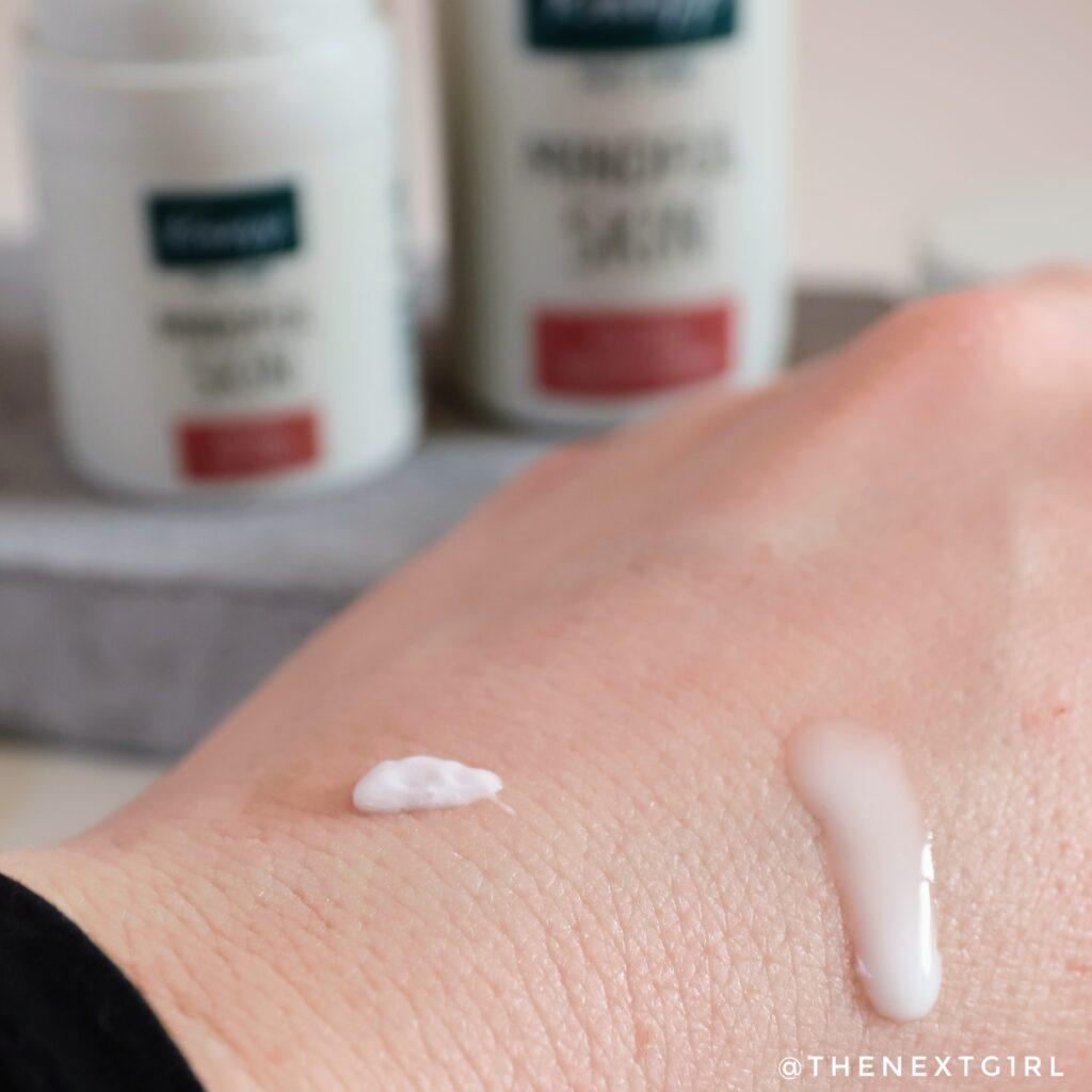Textuur Kneipp Mindful Skin producten