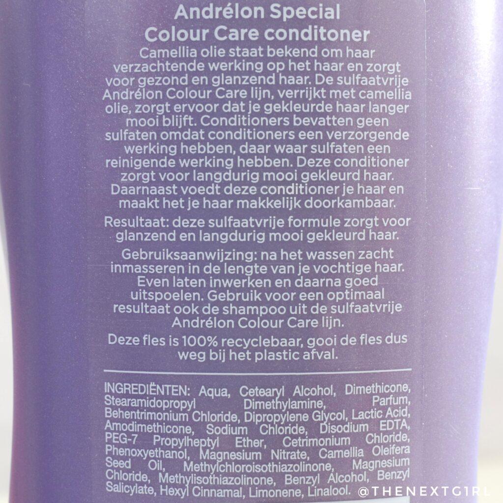 Andrelon conditioner ingredienten