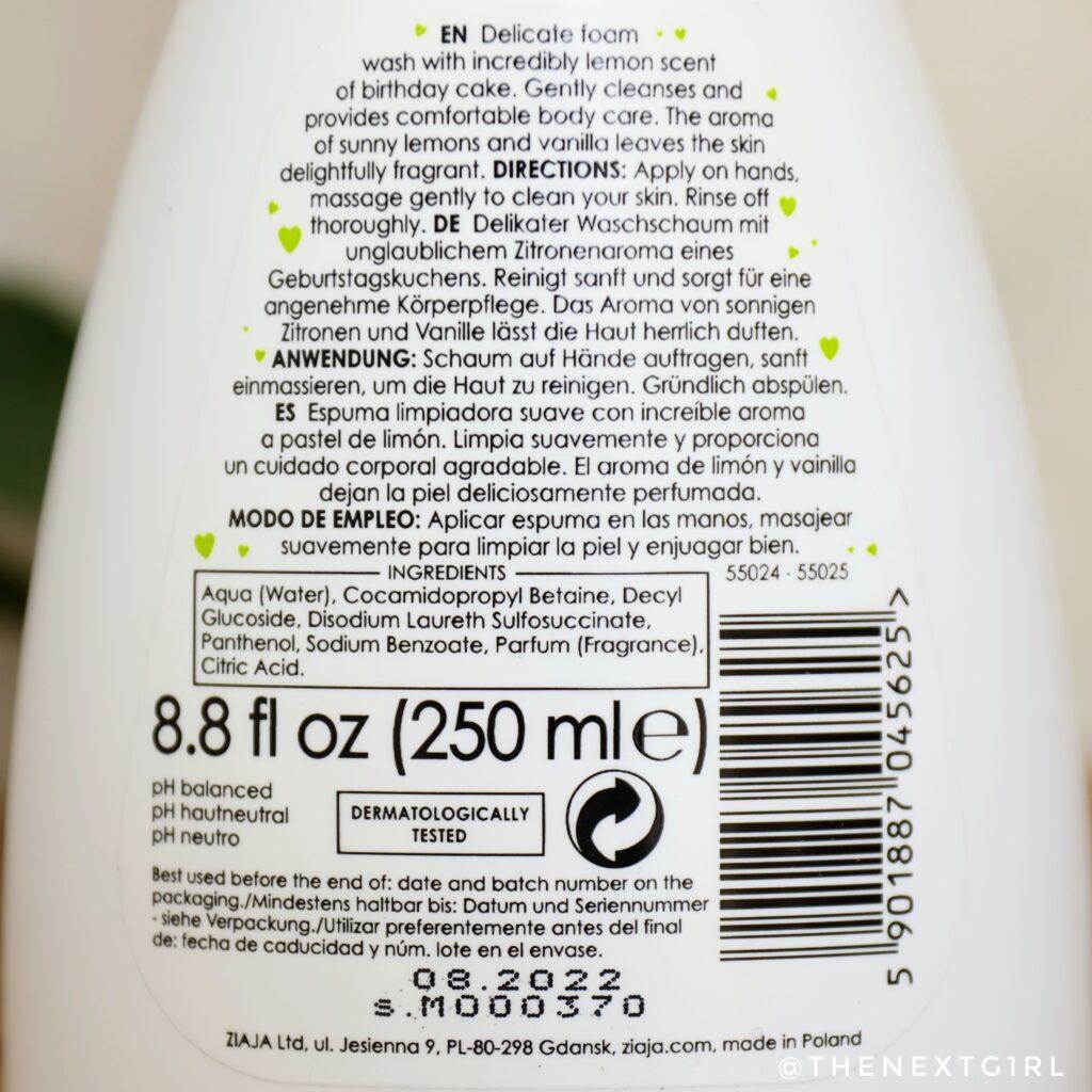Informatie hand en lichaamszeep citroen geur