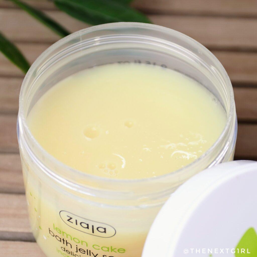 Ziaja bath jelly soap inhoud pot