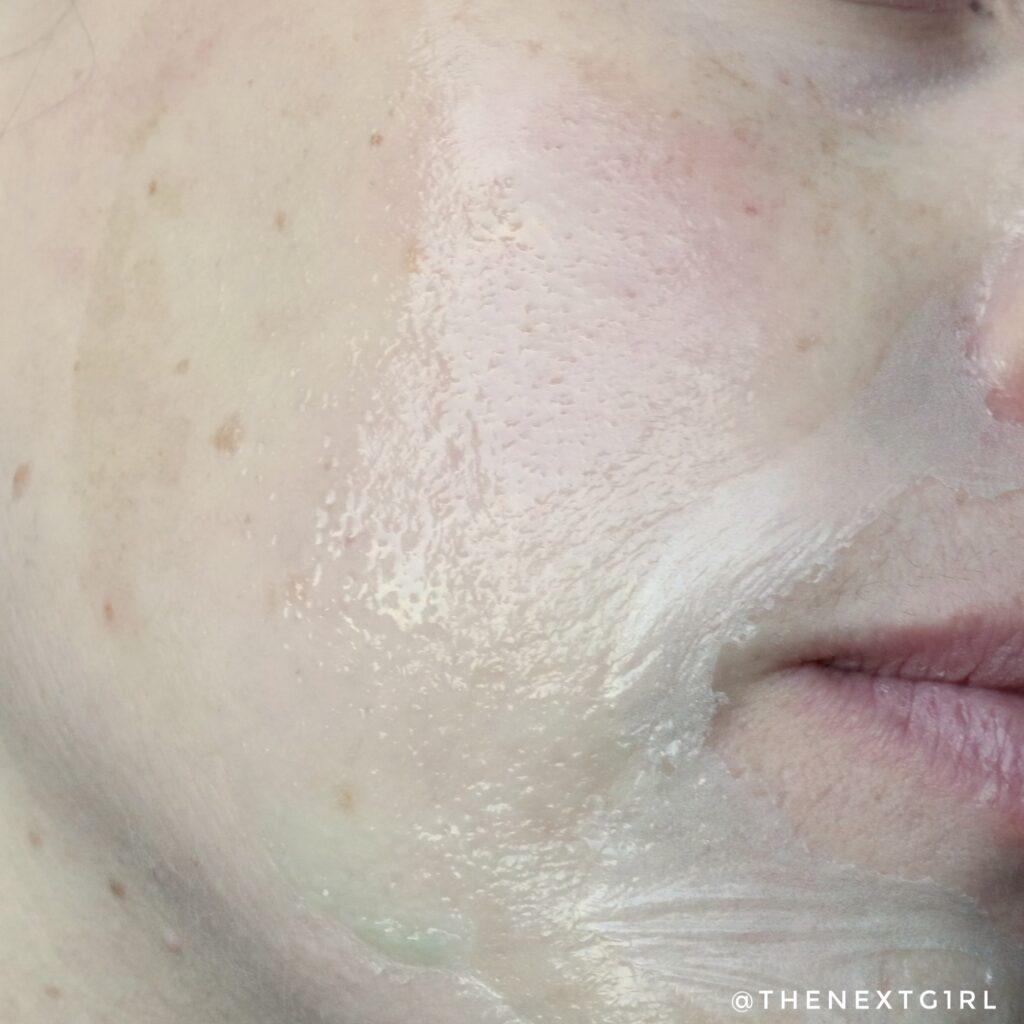 Gedroogd peeloff gezichtsmasker