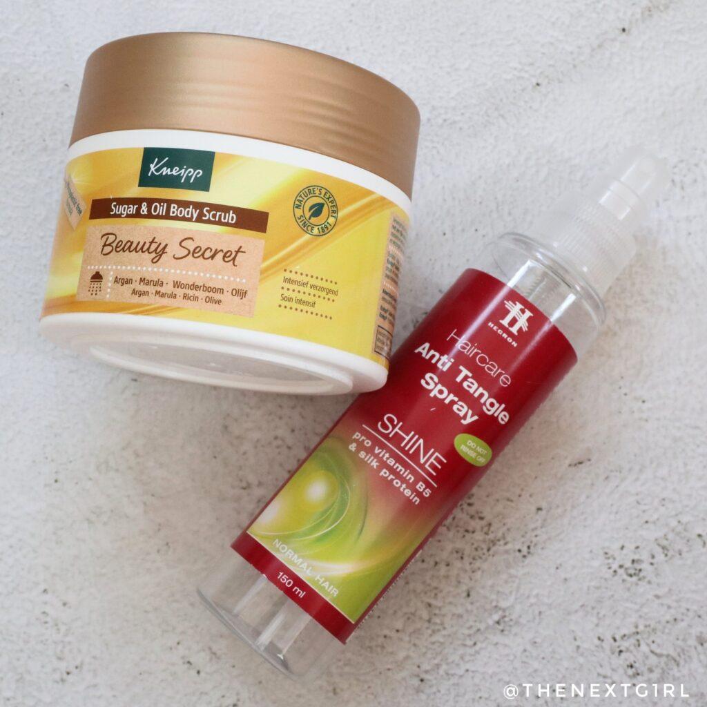 Kneipp Beauty Geheim body scrub en anti tangle spray