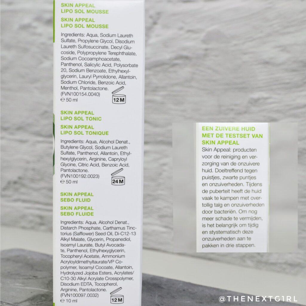 Werking en ingredienten Skin Appeal producten