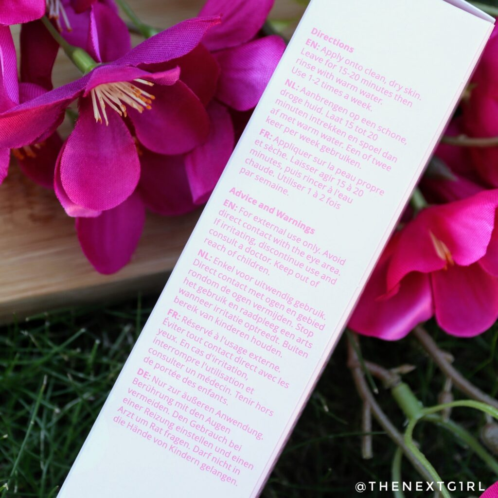 Gebruiksadvies gezichtsmasker pink clay