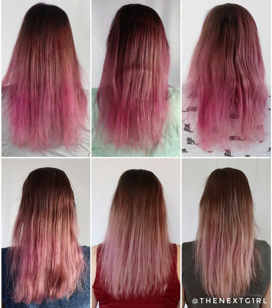 Kleurverloop roze na wasbeurten