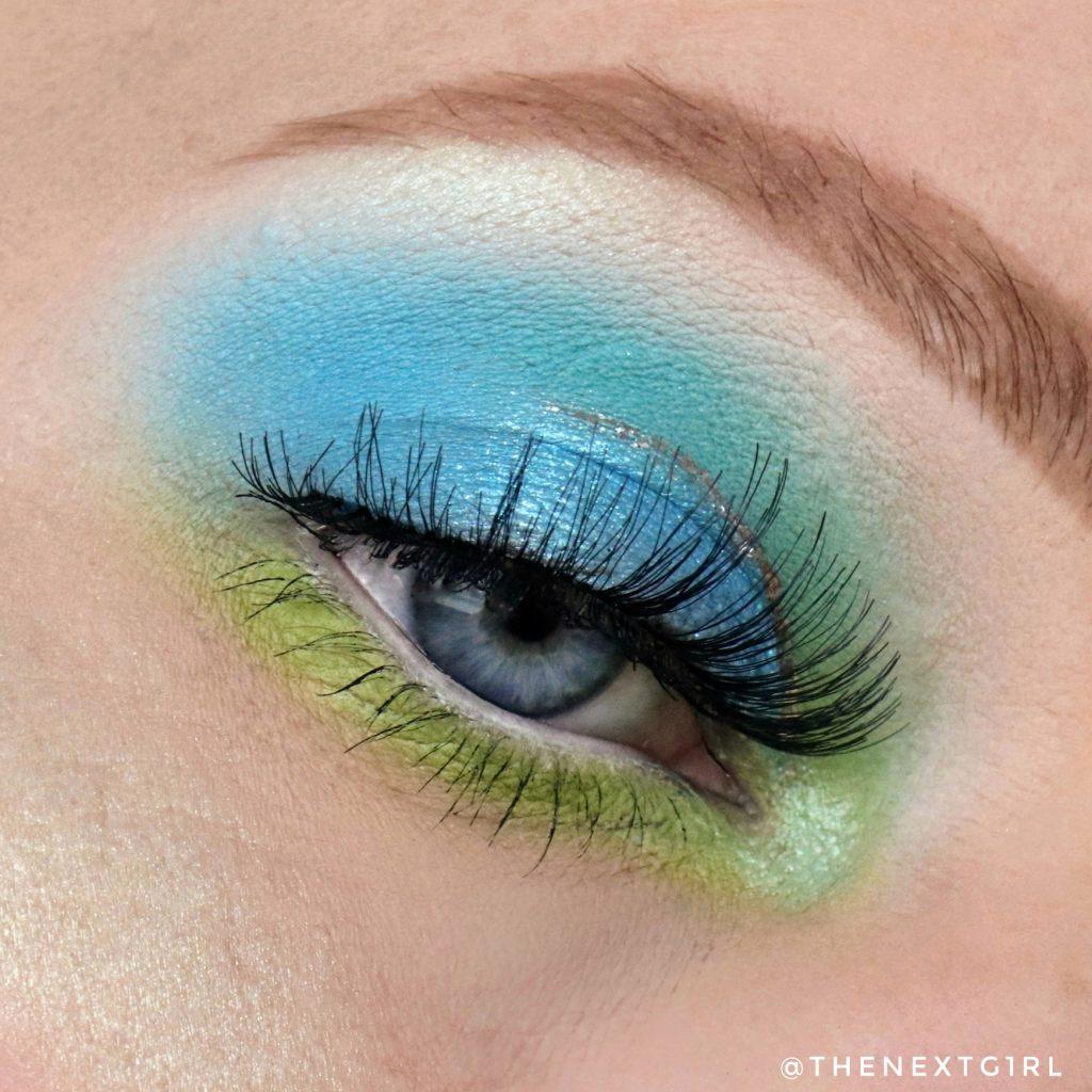 Ooglook met BPerfect Glamour Glitter Liquid eyeshadow BUZZ