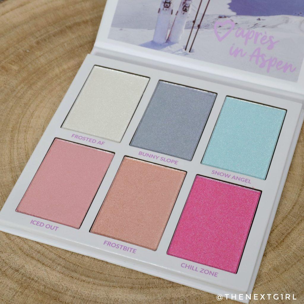 BH Cosmetics Aspen palette met gekleurde highlighters