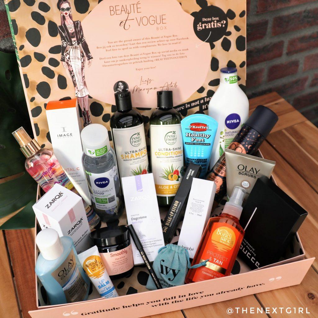 Inhoud Beaute et Vogue box zomer 2021 summerbox