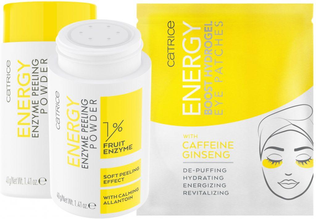 Energy enzyme peeling powder eyepatches with caffeine ginseng