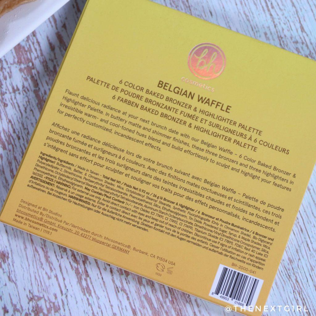 BH Cosmetics Belgian Waffle informatie palette
