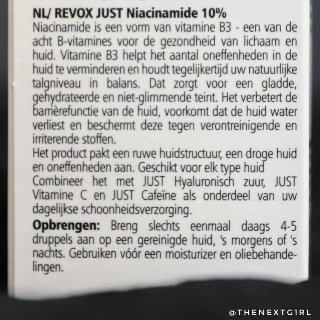 REVOX Just Niacinamide B77 informatie