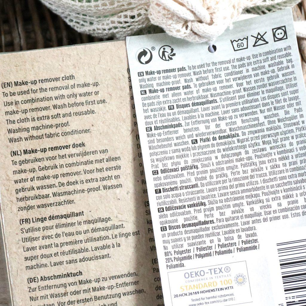 Action Make-up Remover Cloth en Pads informatie