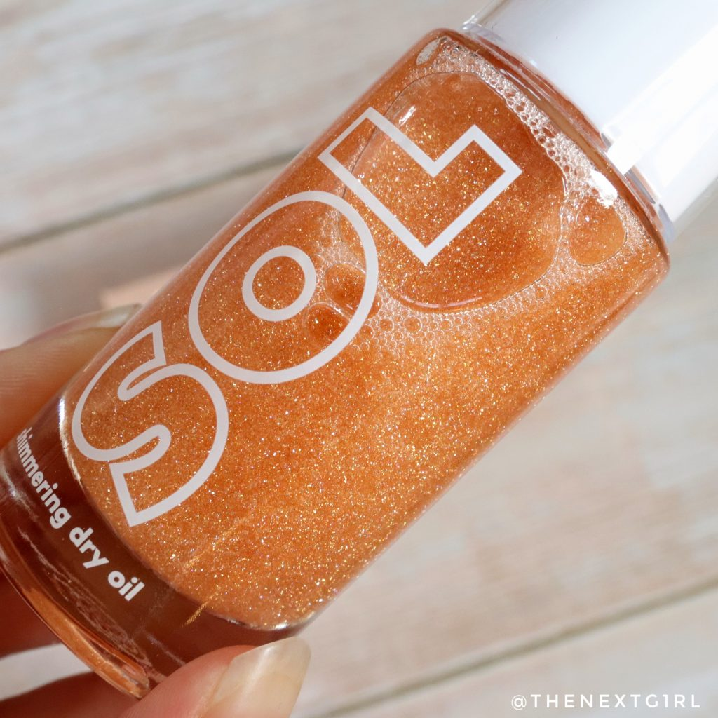 SOL Body Shimmering Dry Oil Paloma glitters