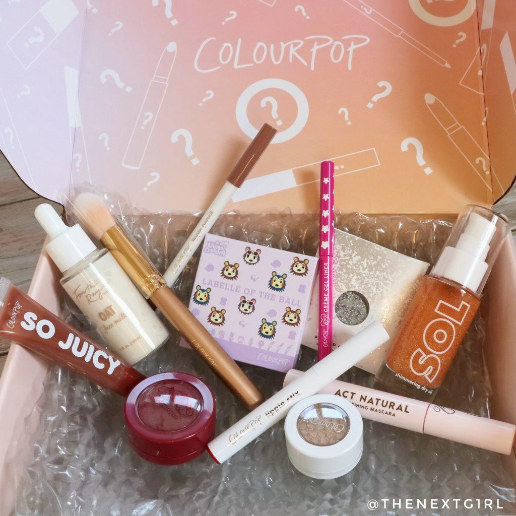 Inhoud Colourpop Cosmetics Mystery Bag