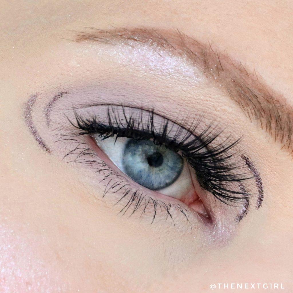 Ooglook met nieuwe Essence Mauve oogschaduwpalette