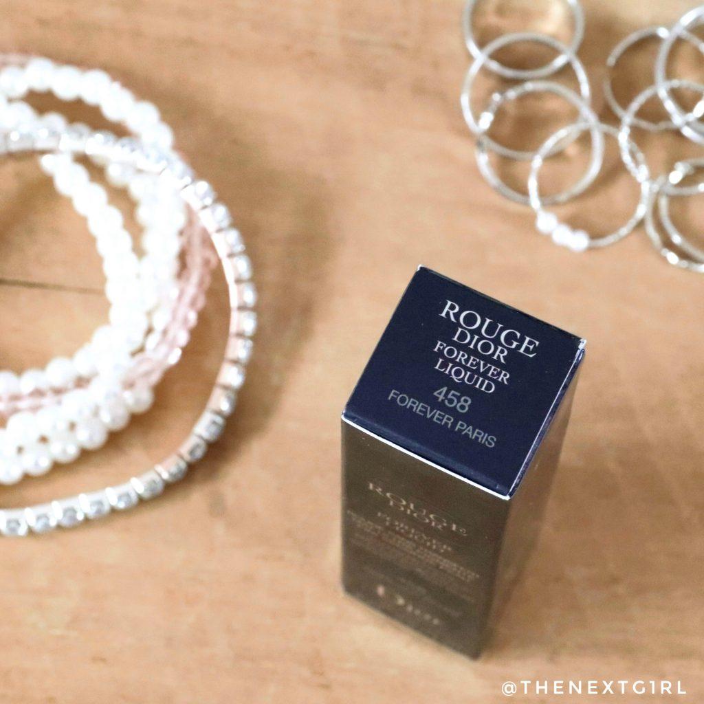 Dior liquid lipstick in Forever Paris 458 verpakking