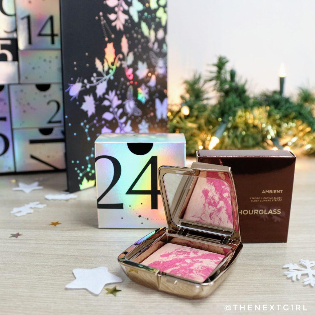 Hourglass Ambient Strobe Lighting blush iridescent flash