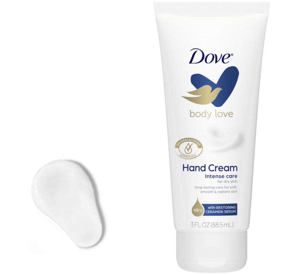 Dove Body Love hand cream for dry skin