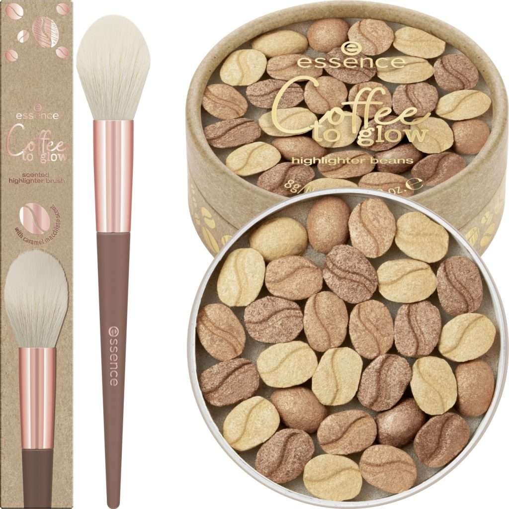 Essence Coffee To Glow Highlighter beans + brush 2021